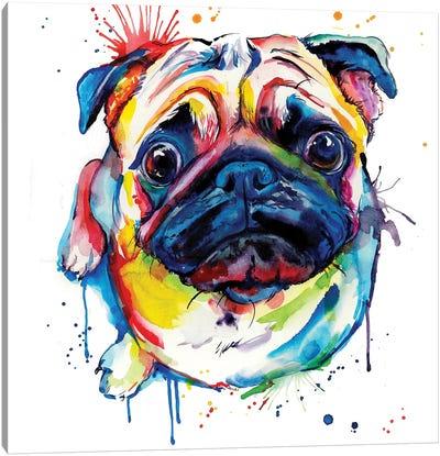 Pug II Canvas Art Print