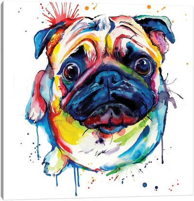 Pug II Canvas Art Print