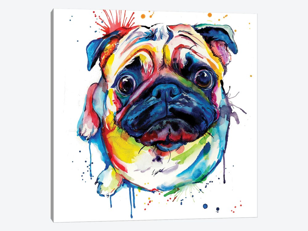 Pug II by Weekday Best 1-piece Canvas Art Print