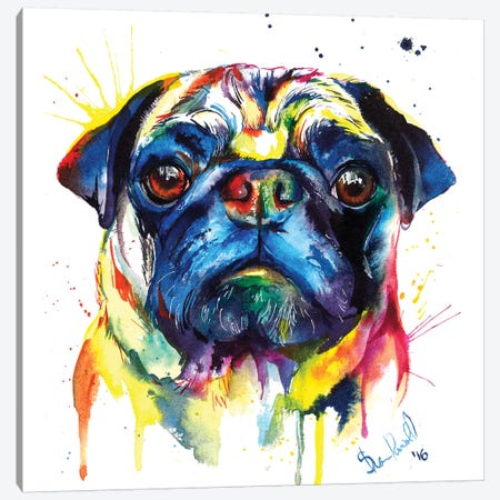Pug III Canvas Print #SNA37} by Weekday Best Art Print