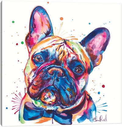 Bowtie Frenchie Canvas Art Print