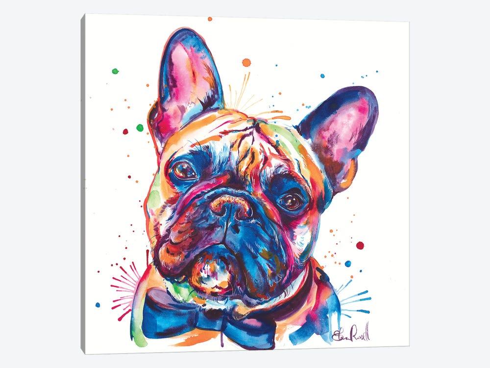 Bowtie Frenchie by Weekday Best 1-piece Canvas Artwork