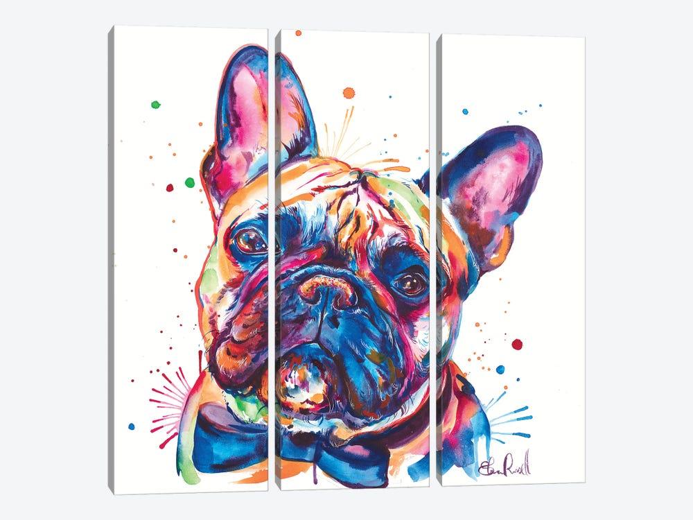 Bowtie Frenchie by Weekday Best 3-piece Canvas Artwork