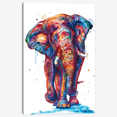 Elephant Canvas Print #SNA47} by Weekday Best Canvas Wall Art