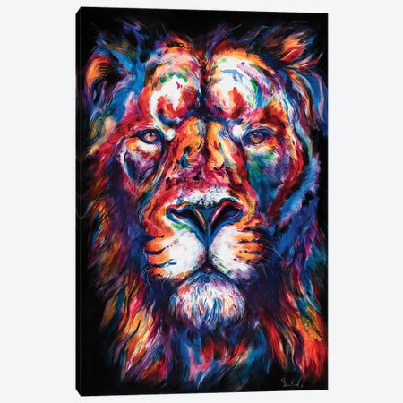 Lion Canvas Print #SNA48} by Weekday Best Canvas Print