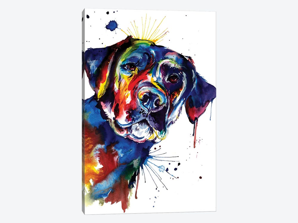 Black Lab by Weekday Best 1-piece Canvas Art Print