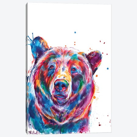 Bear Canvas Print #SNA50} by Weekday Best Canvas Art