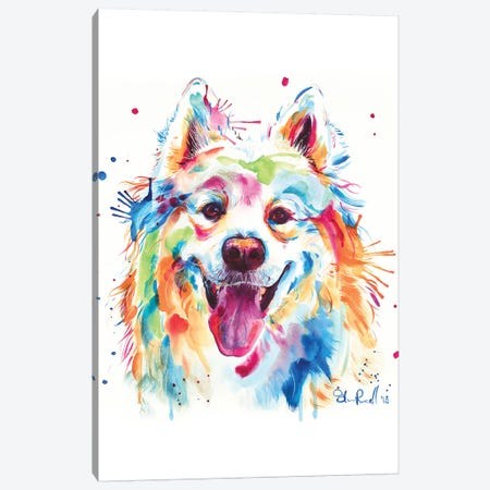 Samoyed Canvas Print #SNA55} by Weekday Best Art Print