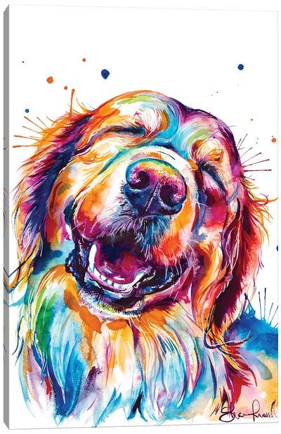 Golden Smile Canvas Art Print
