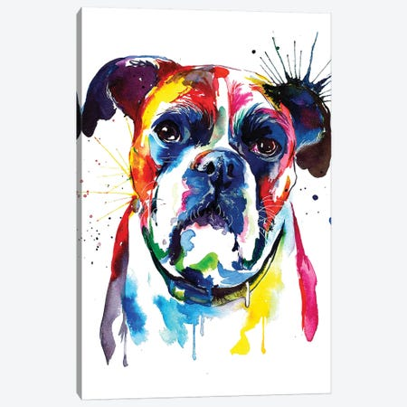 Boxer Canvas Print #SNA7} by Weekday Best Canvas Artwork