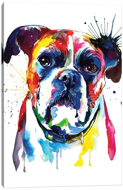 Boxer Canvas Art Print