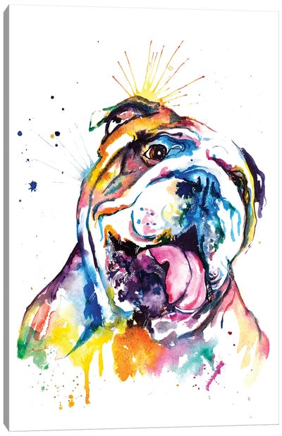 Bulldog Canvas Art Print