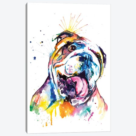 Bulldog Canvas Print #SNA8} by Weekday Best Canvas Art Print