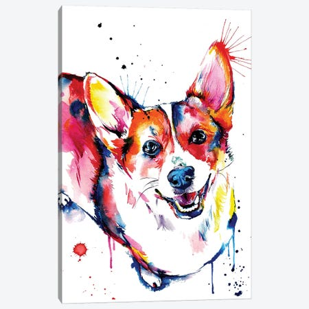 Corgi Canvas Print #SNA9} by Weekday Best Art Print