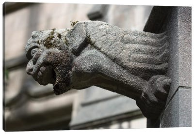 University of Washington, Seattle, Washington State. Architectural detail, gargoyle Canvas Art Print