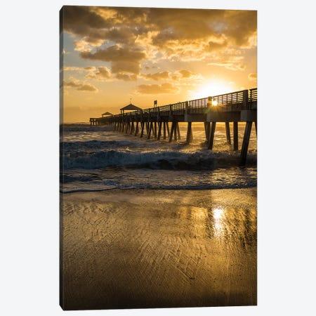 Juno Beach, Palm Beach County, Florida. Sunrise and high surf. Canvas Print #SND15} by Jolly Sienda Canvas Wall Art
