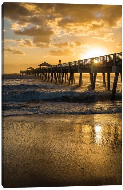 Juno Beach, Palm Beach County, Florida. Sunrise and high surf. Canvas Art Print