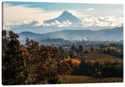 USA, Oregon. Mount Hood autumn landscape scenery. Canvas Art Print