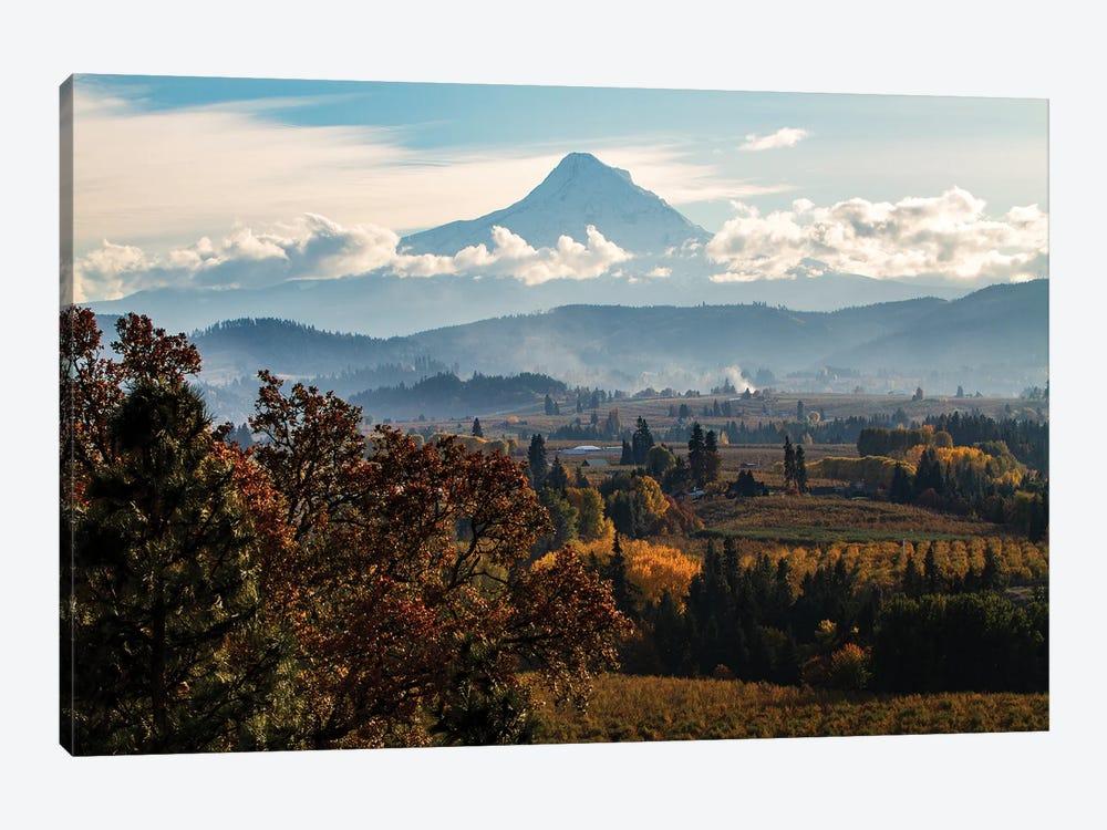 USA, Oregon. Mount Hood autumn landscape scenery. by Jolly Sienda 1-piece Canvas Artwork