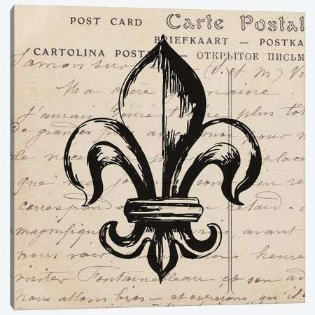 Fleur De Lis II Canvas Print #SNE6} by Sabine Berg Canvas Wall Art