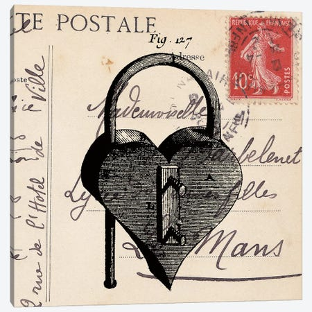 Key To My Heart II Canvas Print #SNE8} by Sabine Berg Art Print