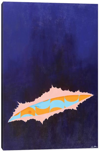 Blue 341 Canvas Art Print