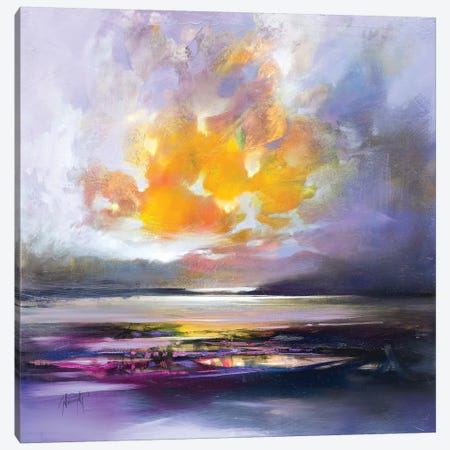 Highland Dusk Light Canvas Print #SNH105} by Scott Naismith Canvas Wall Art