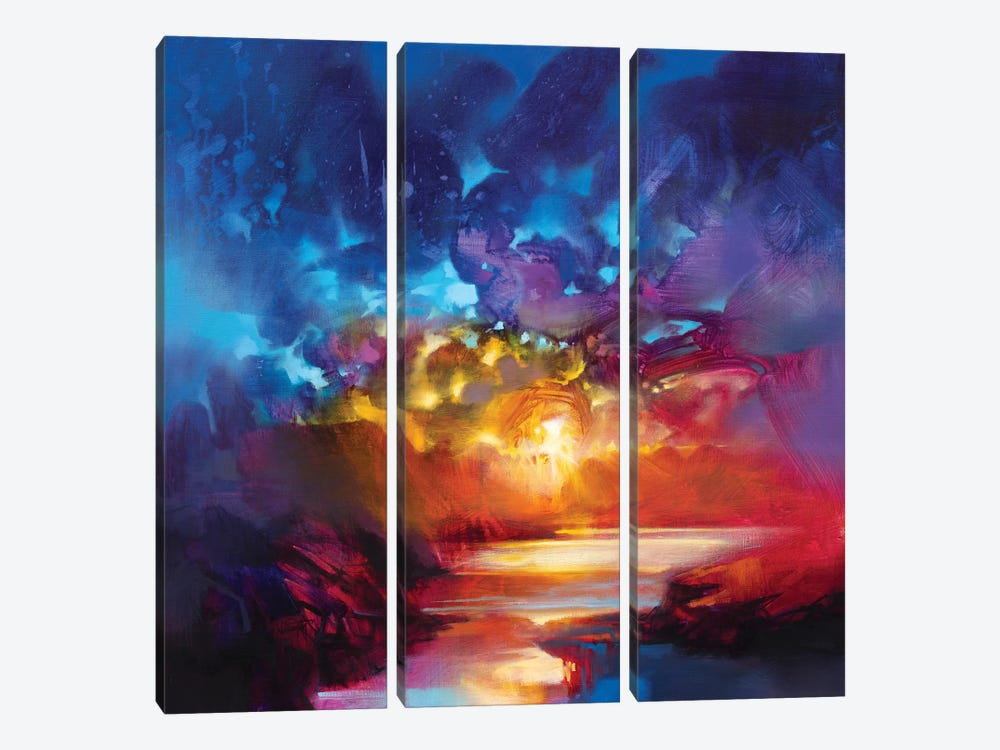 Liquid Light I by Scott Naismith 3-piece Canvas Art Print