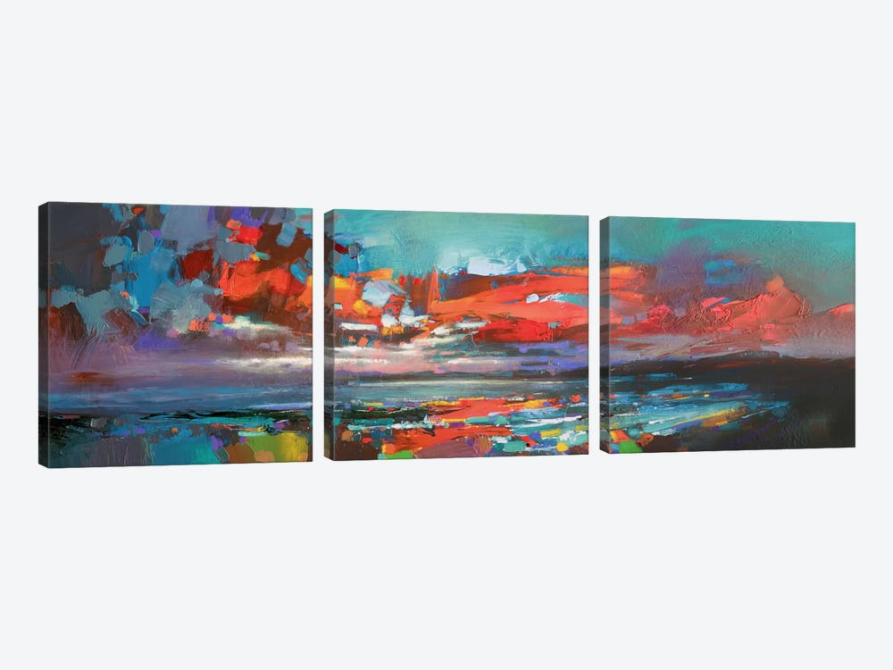 Cowal Red by Scott Naismith 3-piece Canvas Print