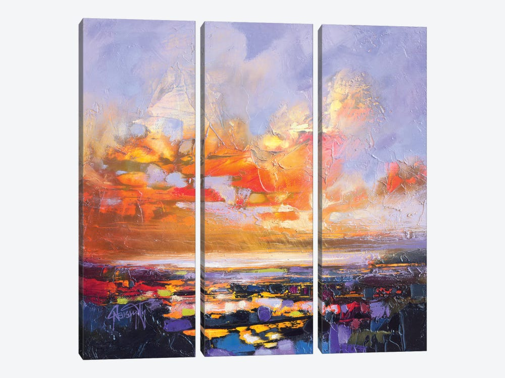 Particle Loch Study IV by Scott Naismith 3-piece Canvas Art