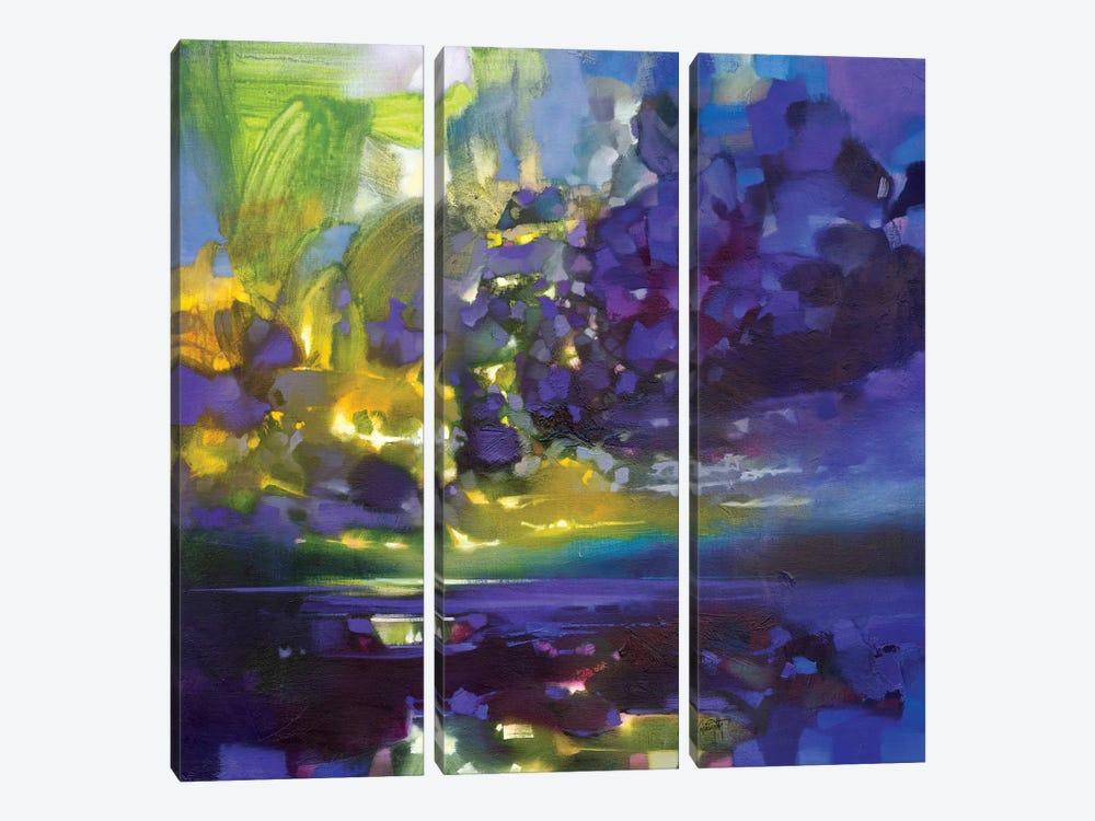Purple Movement by Scott Naismith 3-piece Art Print