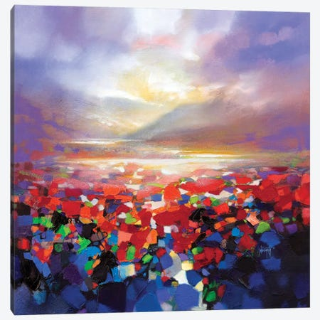 Red Proximity Canvas Print #SNH117} by Scott Naismith Canvas Art Print