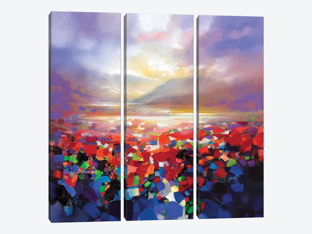 Red Proximity by Scott Naismith 3-piece Canvas Artwork