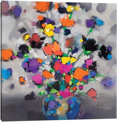 Floral Spectrum I Canvas Art Print