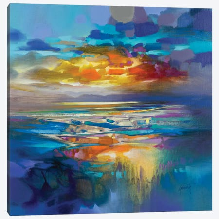 Liquid Cyan Canvas Print #SNH132} by Scott Naismith Canvas Artwork