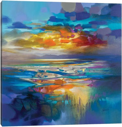 Liquid Cyan by Scott Naismith Canvas Art Print