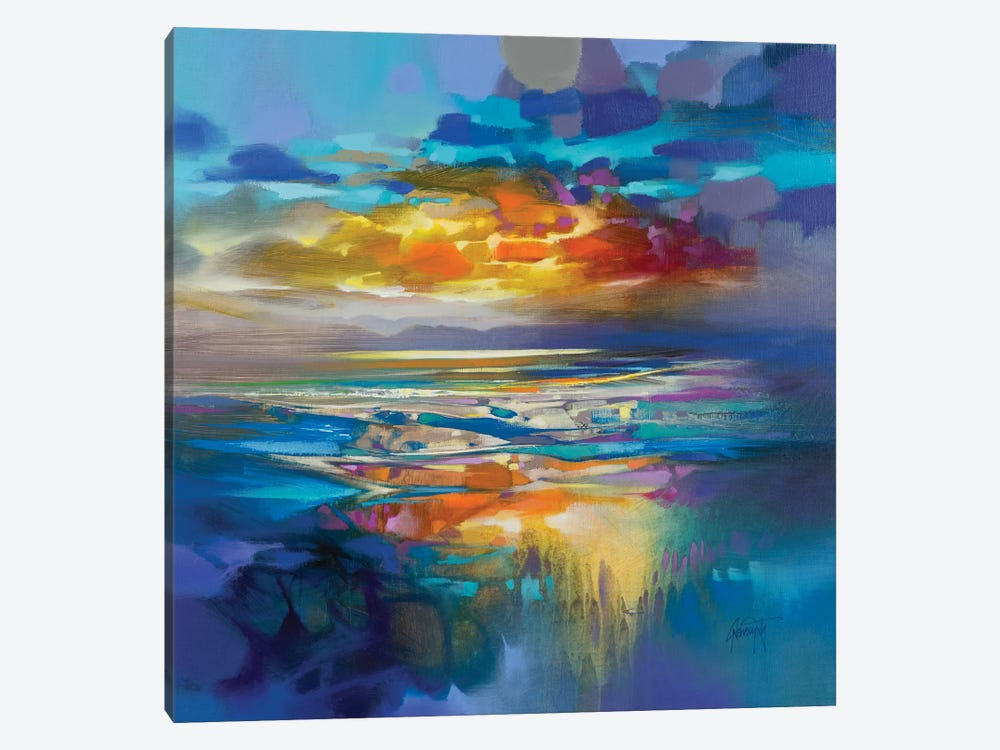 Liquid Cyan by Scott Naismith 1-piece Art Print