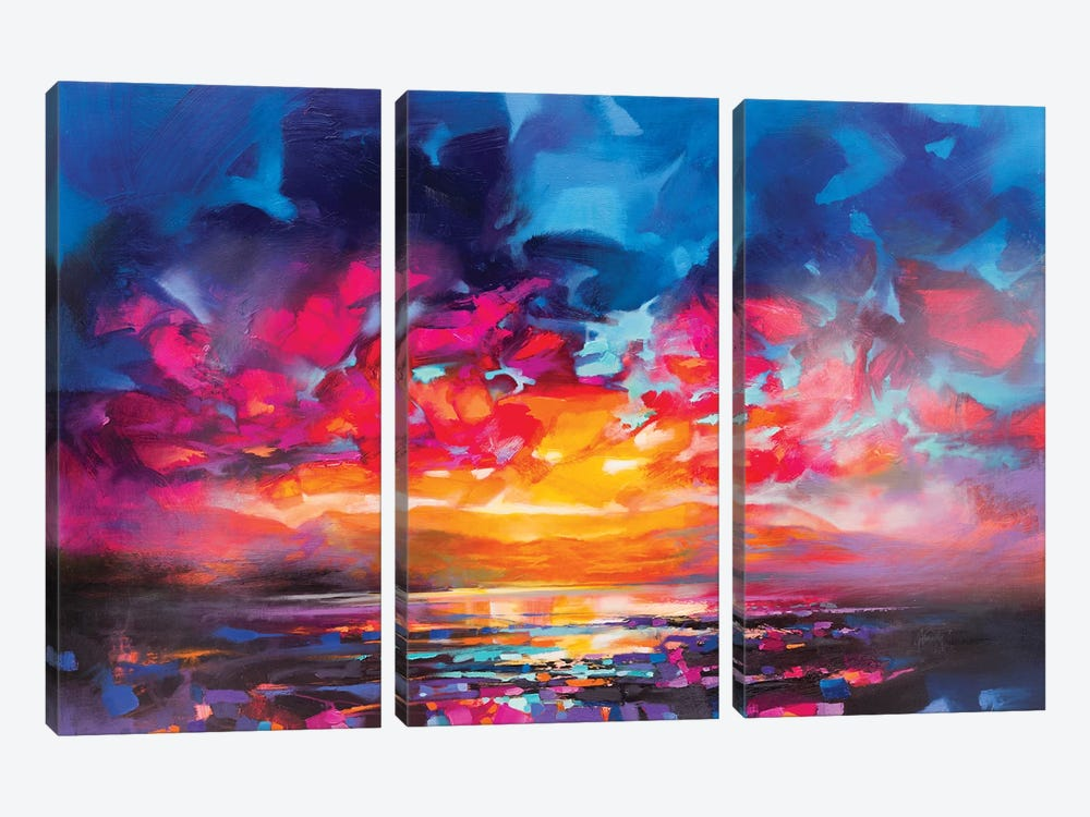 Liquid Light V by Scott Naismith 3-piece Canvas Wall Art