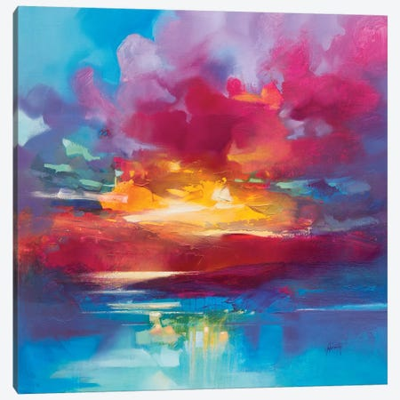 Loch Lomond Sky Canvas Print #SNH134} by Scott Naismith Art Print
