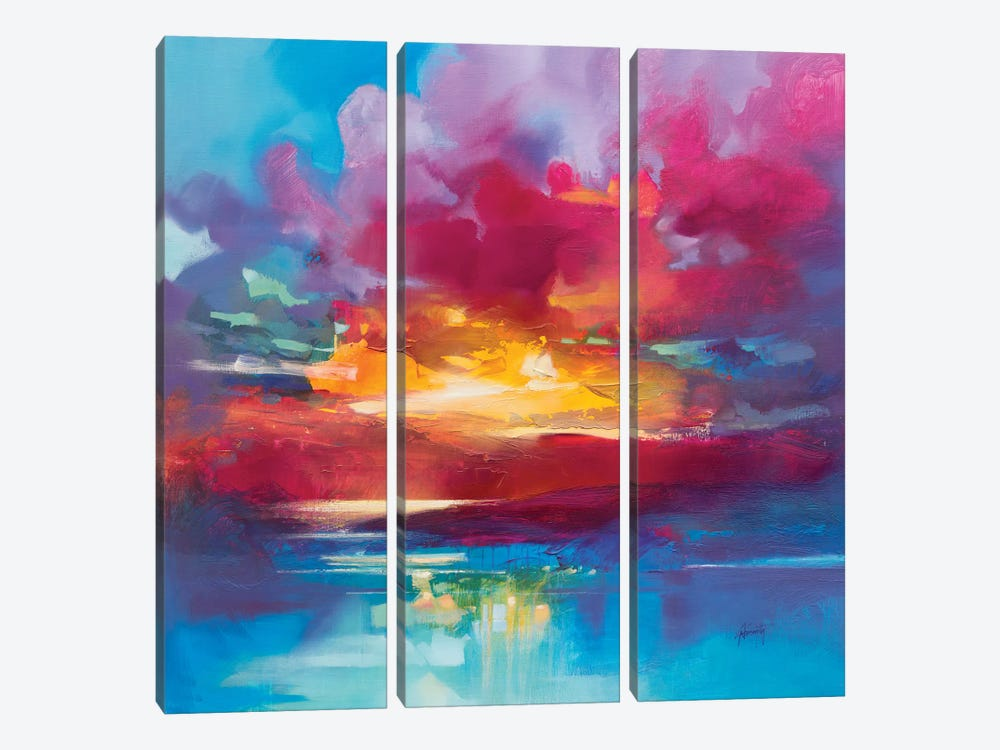 Loch Lomond Sky by Scott Naismith 3-piece Canvas Art Print