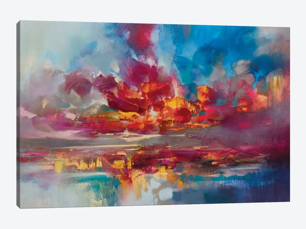 Red Energy by Scott Naismith 1-piece Canvas Artwork