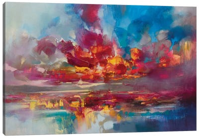 Red Energy Canvas Art Print
