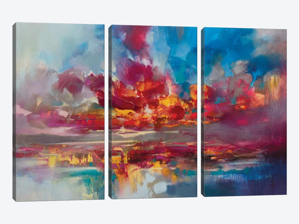 Red Energy by Scott Naismith 3-piece Canvas Art