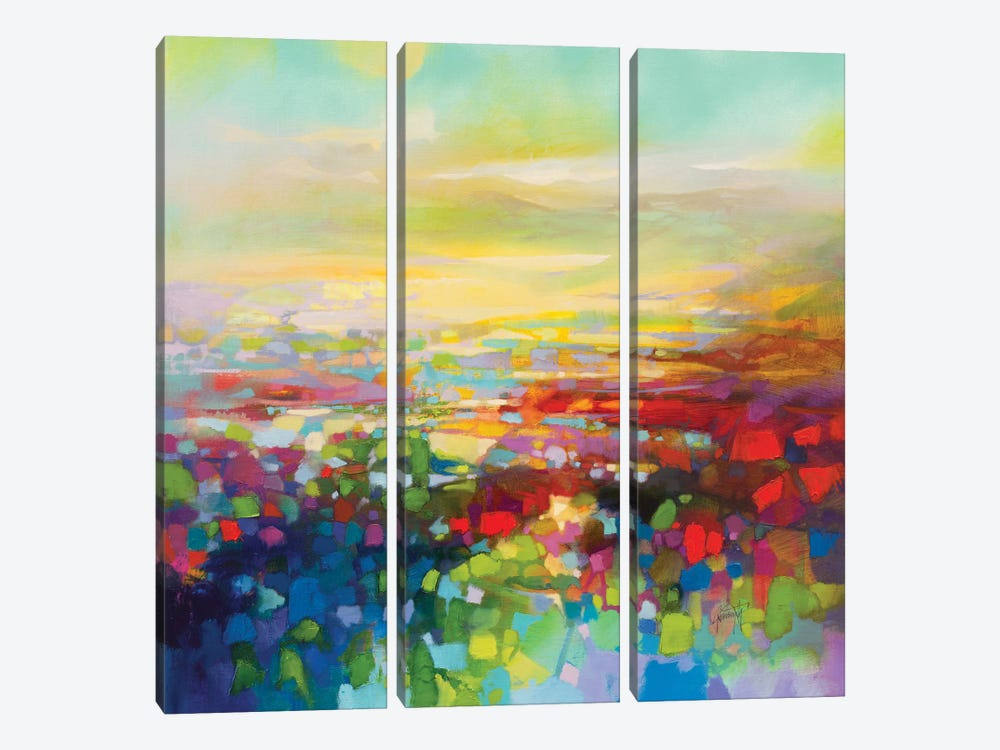 RGB Fragments by Scott Naismith 3-piece Canvas Print