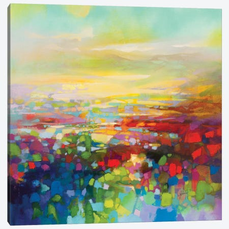 RGB Fragments Canvas Print #SNH138} by Scott Naismith Canvas Artwork