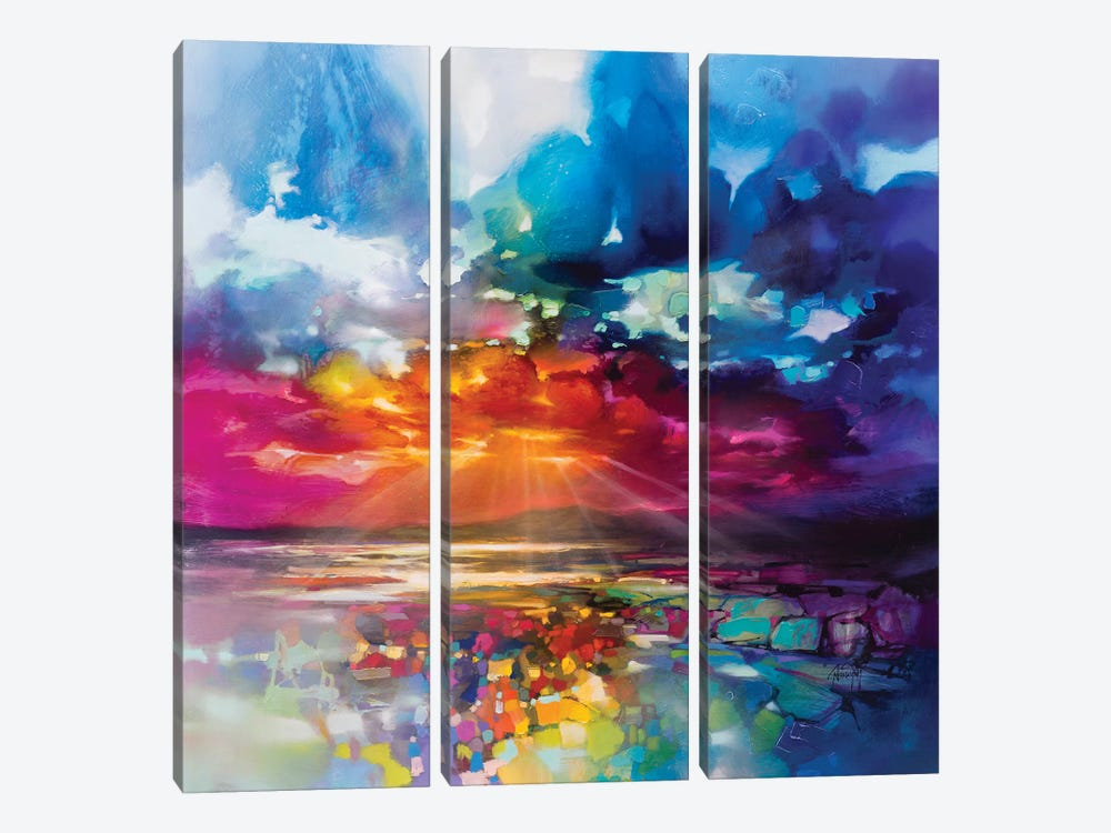 Sun's Energy 3-piece Canvas Print