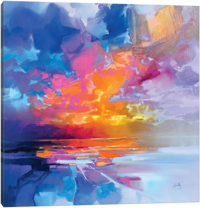 Skye Sunset Fragments Canvas Art Print