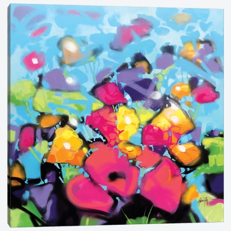 Scattered Colour II Canvas Print #SNH159} by Scott Naismith Canvas Artwork