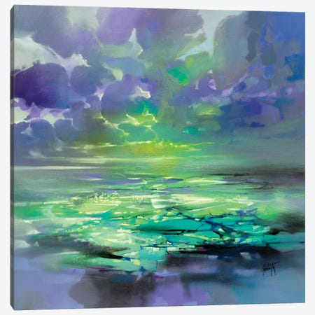 Electric Green Canvas Print #SNH172} by Scott Naismith Canvas Wall Art