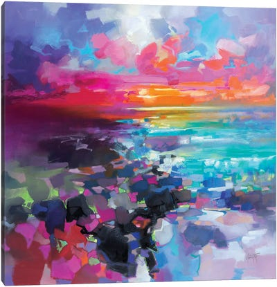 Barra Sunset Fragments Canvas Art Print